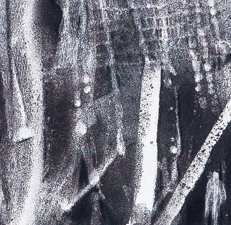 Rock bottom serie 1 | Inkt en houtskool op papier, 23 x 25