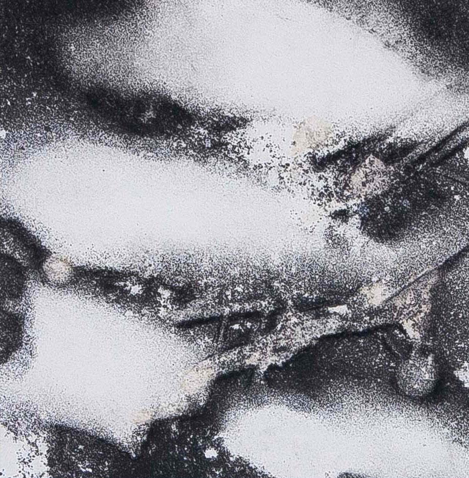 Blind spot | Inkt en houtskool op papier, 23 x 25
