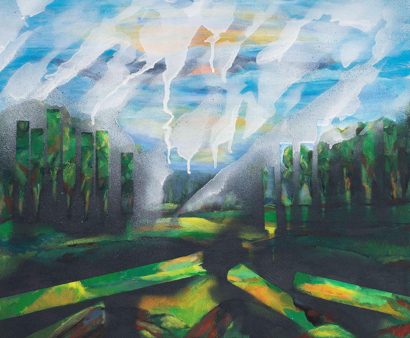 Melting summer #2 | Acryl spray op canvas, 60 x 50