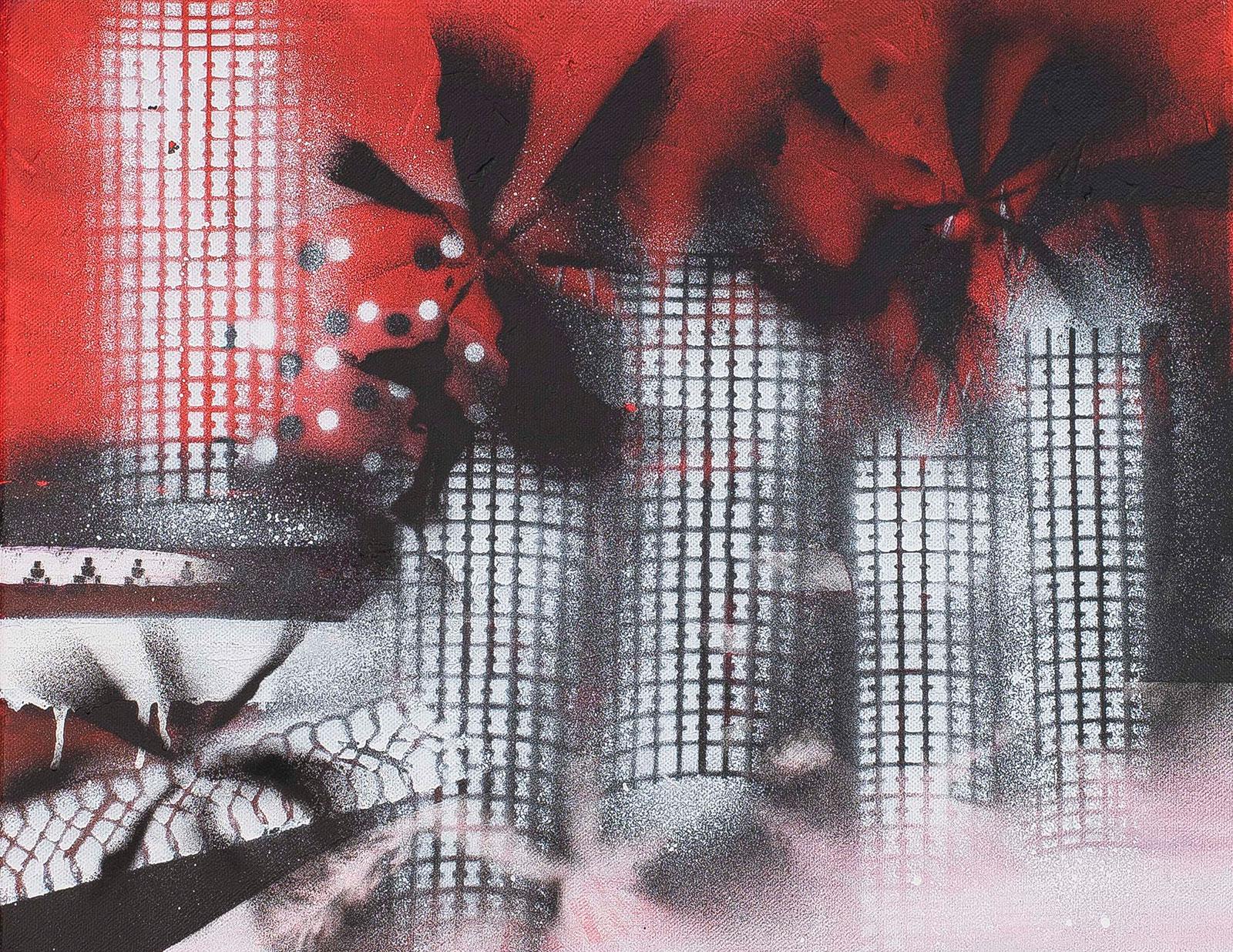 Palm Beach #2 | Acryl spray op canvas, 60 x 50