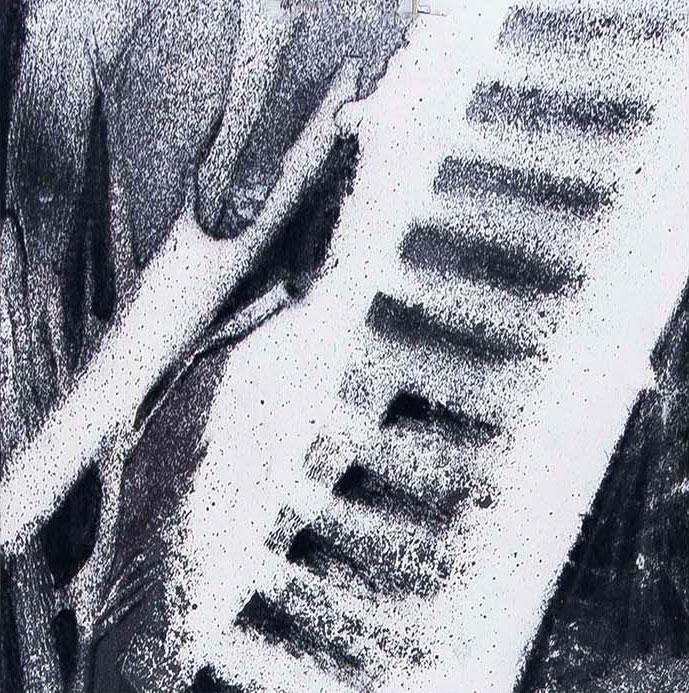 Telescope wonders | Inkt en houtskool op papier, 23 x 25